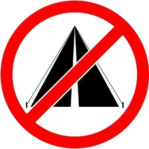 No camping pictogram