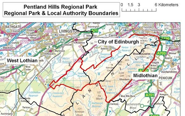 Local authority boundary map